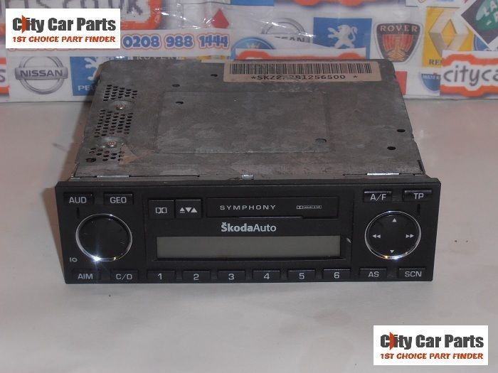 Skoda Radio Mk1 Fabia Octavia Superb Cassette Player