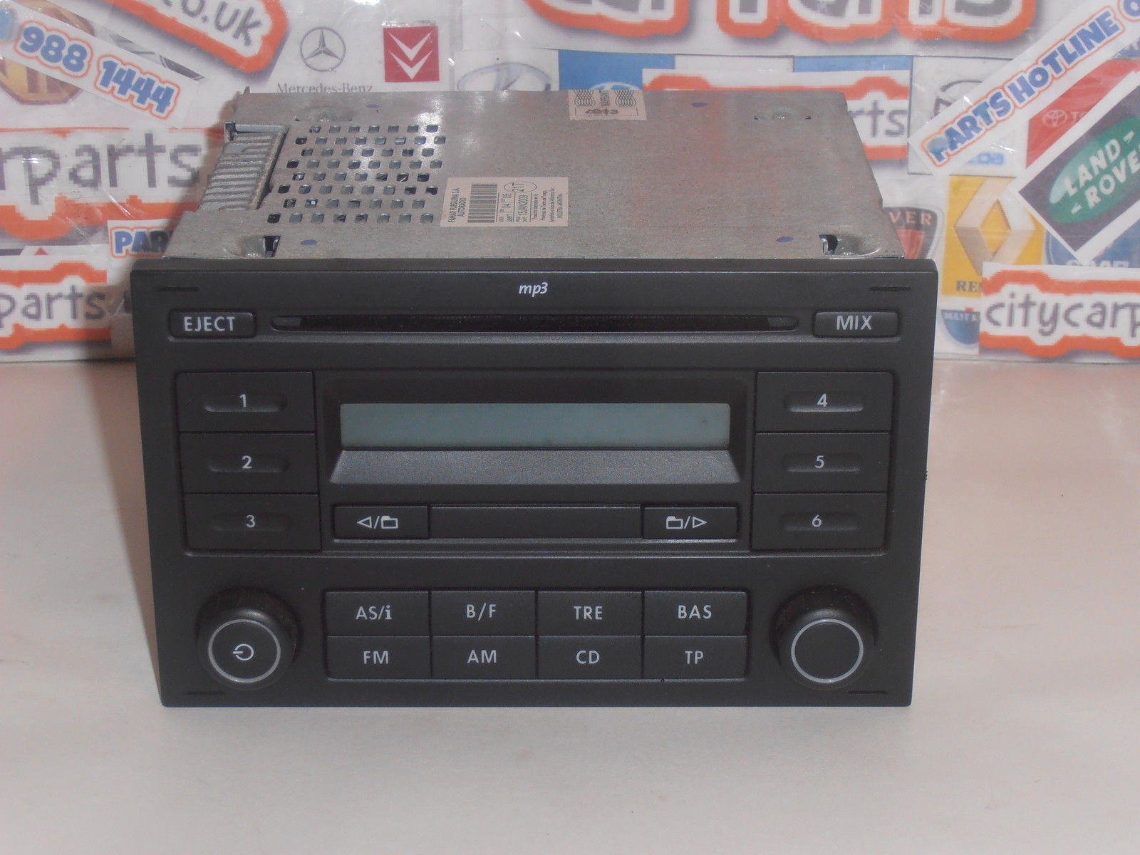 vw polo t5 fox lupo caddy rcd 200 radio cd mp3 player with code and warranty. Black Bedroom Furniture Sets. Home Design Ideas