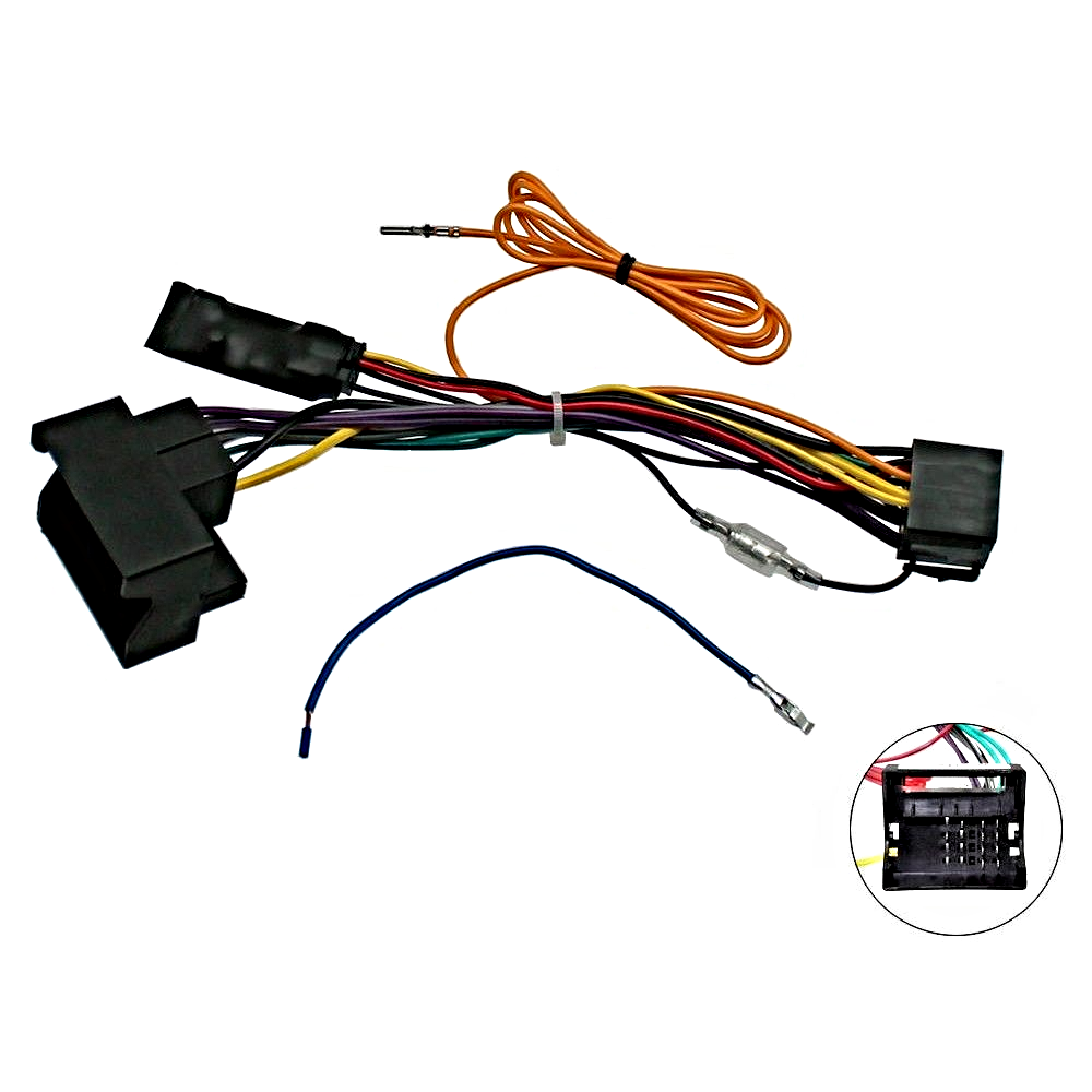 Audi A3 8P A4 B7 TT CANBus Car Stereo ISO Wiring Harness w/ 12v Ignition .