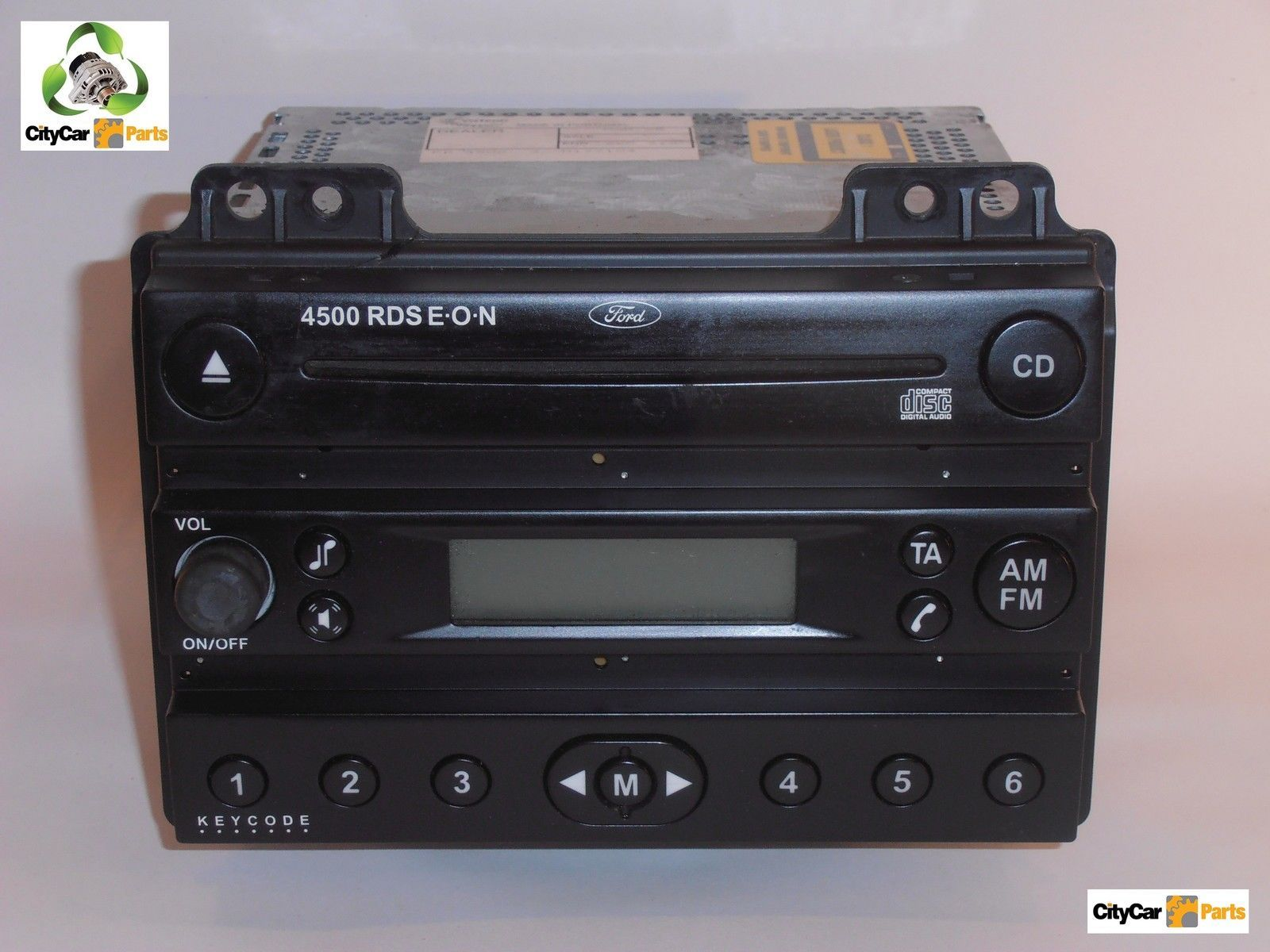 ford fiesta fusion 4500rds e o n single cd player radio. Black Bedroom Furniture Sets. Home Design Ideas