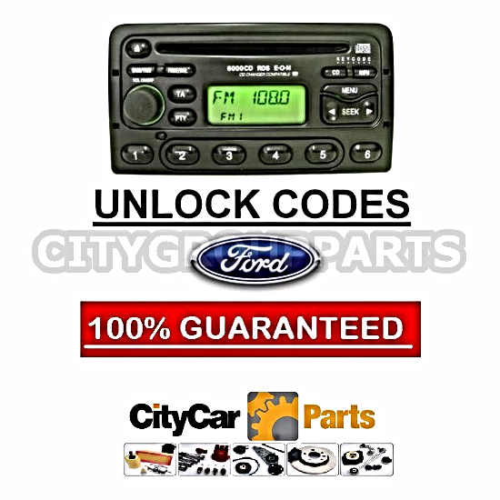 FORD RADIO CODE UNLOCK  M SERIES AUDIO CODES 3000 4000 5000 6000 6006 7000 RDS