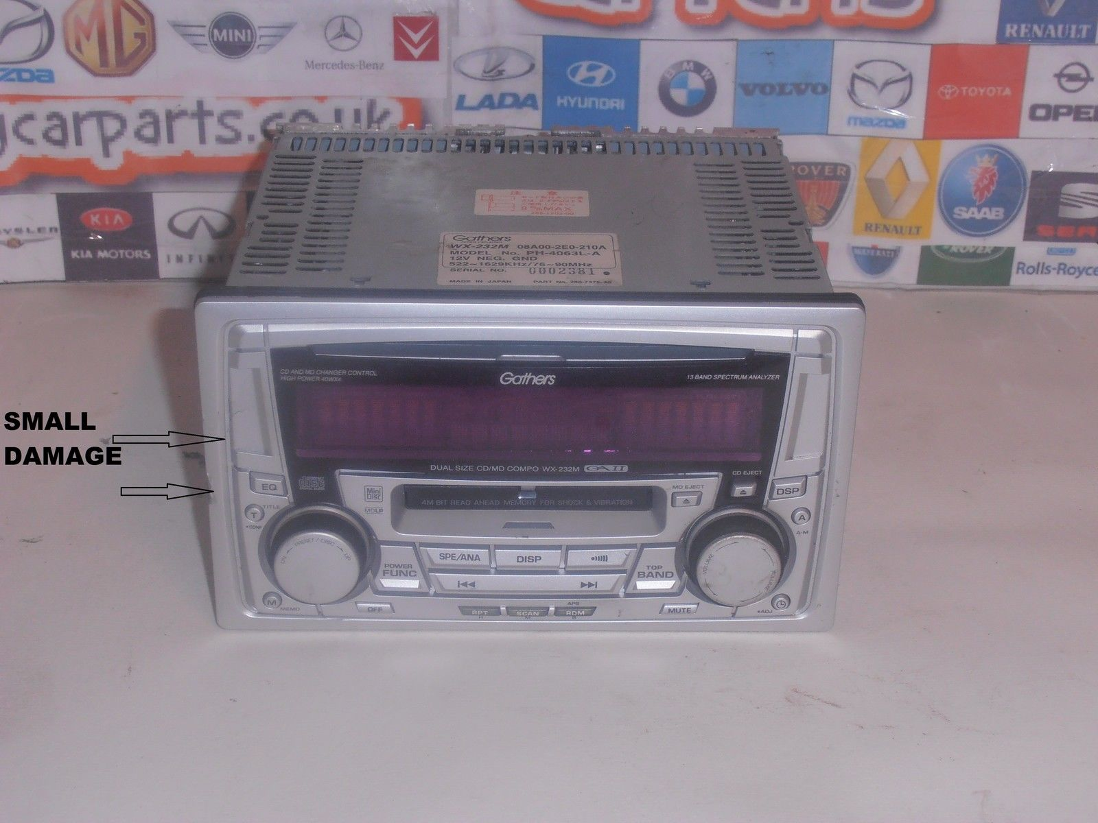 Honda Jazz Fit Models From 2002 To 2008 Radio Cd Player Gathers Wx232m