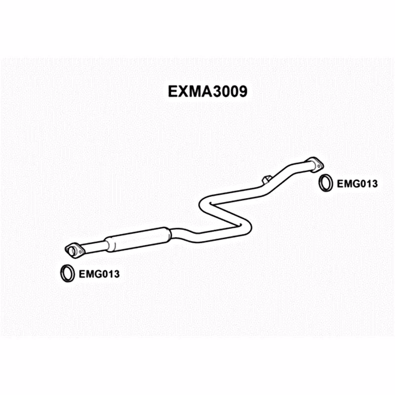 Mazda 626 Models 1997 To 2002 Exhaust Centre Silencer Middle Box Exma3009