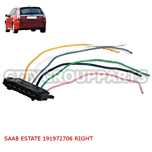 saab 93 estate 2005 to 12 driver right side rear tail lamp wiring rh citycarparts co uk