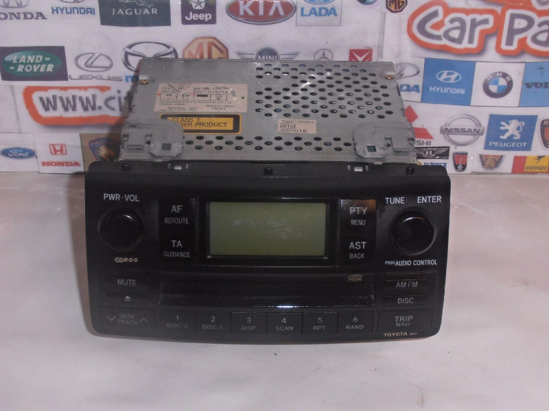 Toyota Corolla Vvti Models From 2001 To 2006 Cd Player