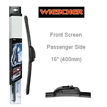 WIESCHER FLAT BLADE  AURO PLUS FRONT SCREEN PASSENGER SIDE 16""